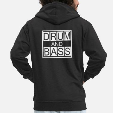 Bass Drum and Bass T-shirt, DnB Dubstep - Mannenjack Premium met capuchon