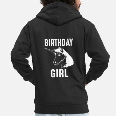 Birthday Unicorn Birthday Girl Birthday Girl - Miesten premium hupputakki