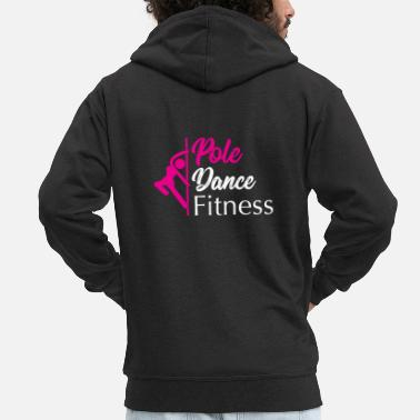 Fitness Pole Dance Pole Fitness Gift - Men's Premium Zip Hoodie