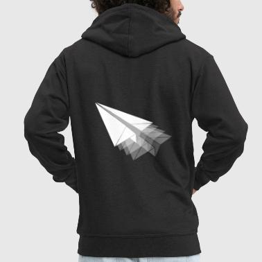 Paper Paper plane paper airplane - Men's Premium Hooded Jacket