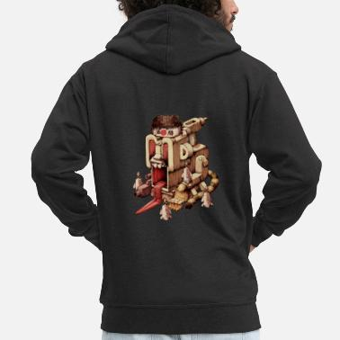 Kamikaze Kamikaze Samurai - Men's Premium Hooded Jacket