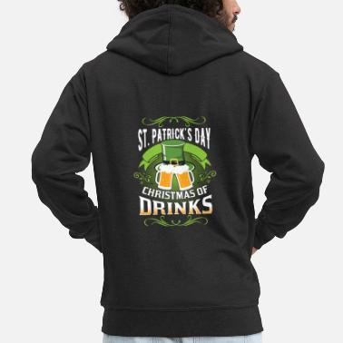 Ireland St. Patrick's Day Irish Festival Beer Holiday Gift - Men's Premium Zip Hoodie