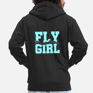 Fly Floating woman, competition - Men's Premium Zip Hoodie