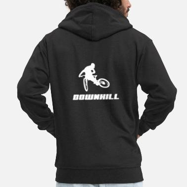 Racing Downhill, mountain bike, gift, MTB - Men's Premium Zip Hoodie