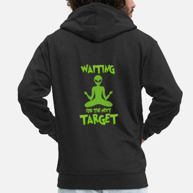 Ufo Next target - Alien, Space, Planet - Men's Premium Zip Hoodie
