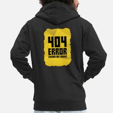 Message Error message computer gift computer science warning - Men's Premium Zip Hoodie