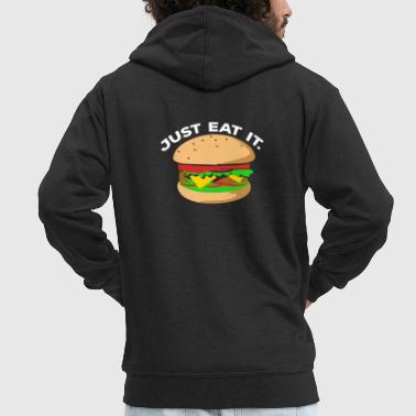 Burger - Men's Premium Hooded Jacket