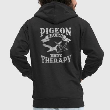 Racing Pigeon pigeon fancier pigeons race therapy birds - Men's Premium Hooded Jacket