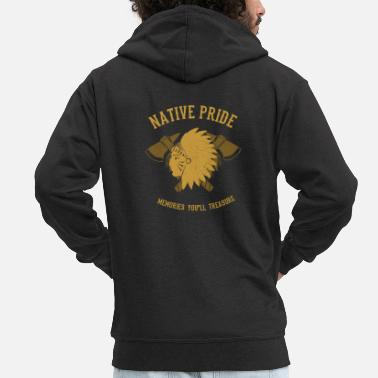 American Indian Native American Indians - Men's Premium Zip Hoodie
