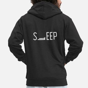 Sleeping SLEEP sleep - Men's Premium Zip Hoodie