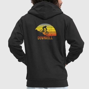 Downhill vintage downhill - Men's Premium Hooded Jacket