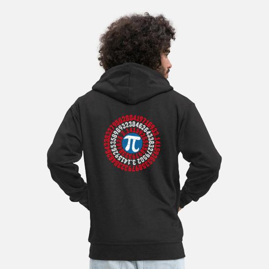 Pi Hoodies & Sweatshirts - pi - Men's Premium Zip Hoodie black