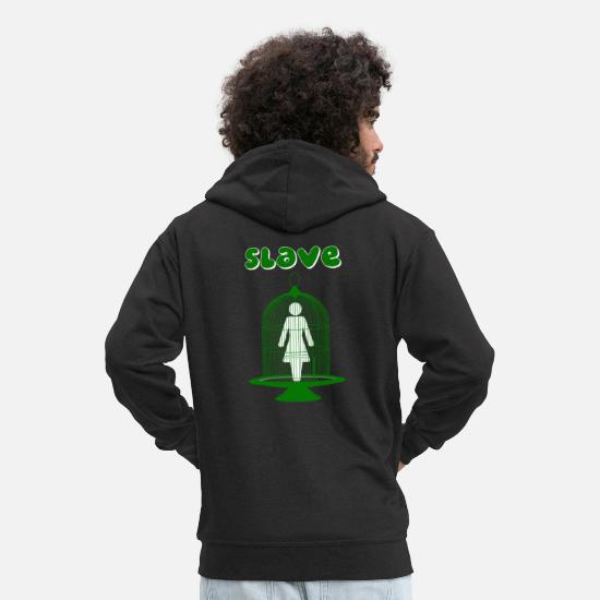 Slave Hoodies & Sweatshirts - slave - Men's Premium Zip Hoodie black