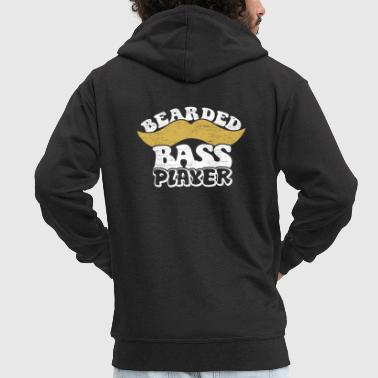 Bass Bass player with beard gift Father Uncle - Men's Premium Hooded Jacket