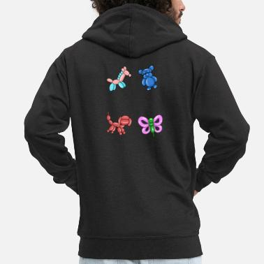 Artist Balloon artist balloon animals children's birthday - Men's Premium Hooded Jacket