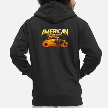 Hot Rod American Hot Rod - Men's Premium Hooded Jacket