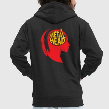 Metal Head Gift Christmas Music Rock - Felpa con zip Premium da uomo