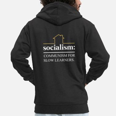 Communist Socialist communist capitalist - Men's Premium Hooded Jacket
