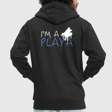 I'm A Piano Playa - Men's Premium Hooded Jacket