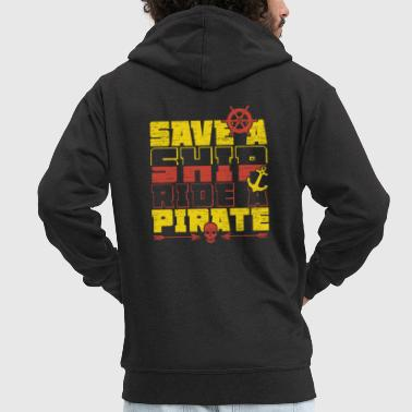 Save a ship, ride a pirate spell - Men's Premium Hooded Jacket