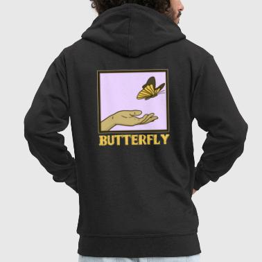 Butterfly Butterfly brimstone hand gift - Men's Premium Hooded Jacket