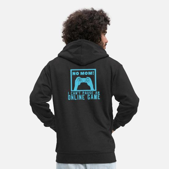 Console Sweat-shirts - No Mom Online Game Jeu vidéo No break gamers - Veste à capuche premium Homme noir