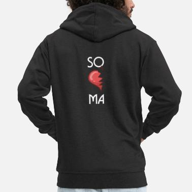 Partner SOMA Cute Soulmates Valentine's Day 2020 Partners - Men's Premium Zip Hoodie
