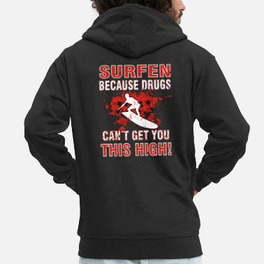Design for crazy surfer funny gift - Men's Premium Hooded Jacket