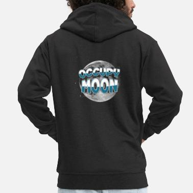 Occupy Uppta Moon Space SpaceX Rocket Occupy Moon - Premium-Luvjacka herr