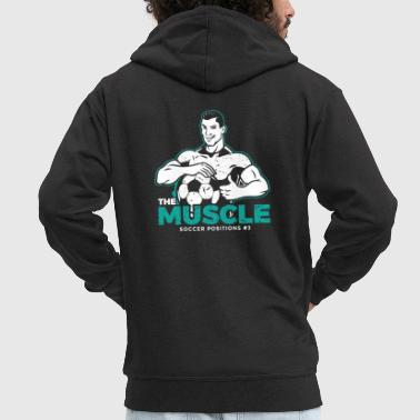 Football Fan Funny Soccer Gift for Soccer Coaches, Players and Fans - Men's Premium Hooded Jacket