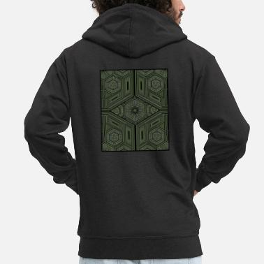 Trippy Sacred Geometry T-Shirt - DMT Pattern - Goa Party - Men's Premium Hooded Jacket