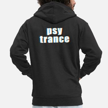 Psy-trance Psy Trance design Gift for Acid Techno Electronic - Men's Premium Hooded Jacket