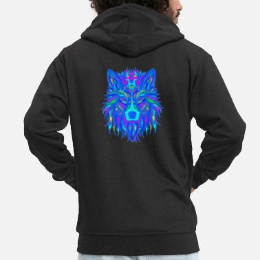 Edm Wolf EDM - Men's Premium Hooded Jacket