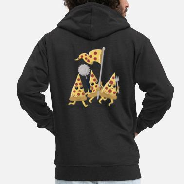 Pizza revolution - Men's Premium Hooded Jacket