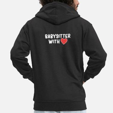Babysitter Babysitter with love - Men's Premium Zip Hoodie