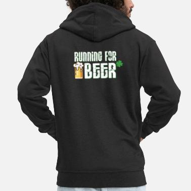 Running For Beer - Beer Drinker Party Design - Mannenjack Premium met capuchon