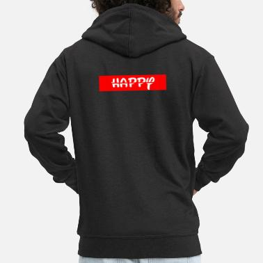 Happy Happy / happy - Men's Premium Zip Hoodie