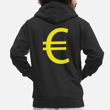 Euro €, Euro, Euro sign - Men's Premium Zip Hoodie