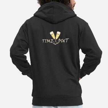 Time Out Time out - Men's Premium Zip Hoodie