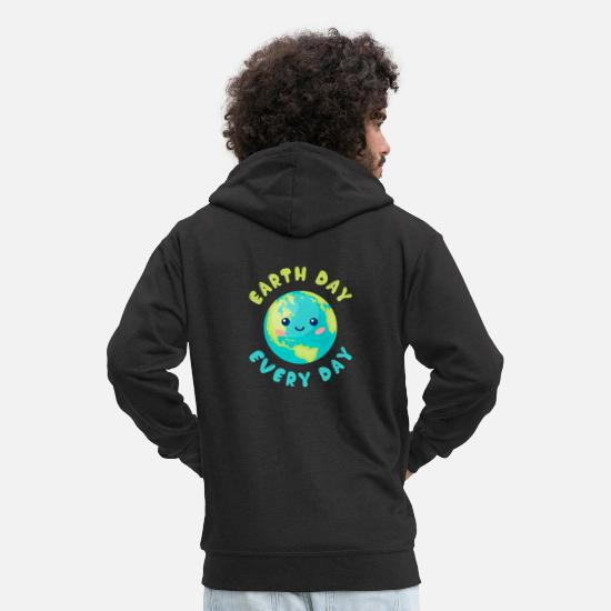 Enviromental Hoodies & Sweatshirts - Earth Day Earth Day protects the environment - Men's Premium Zip Hoodie black