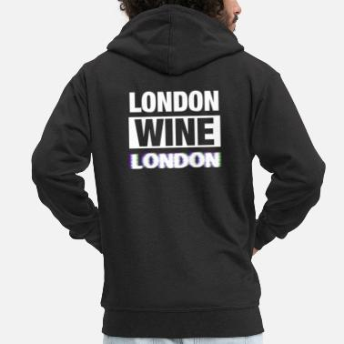 London London England wine - Men's Premium Zip Hoodie
