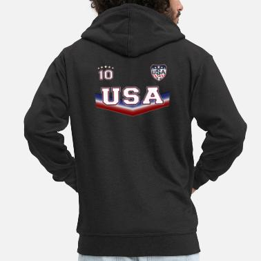 Shield T-shirt de football USA Outfit Design no. 10 pour les hommes - Veste à capuche premium Homme