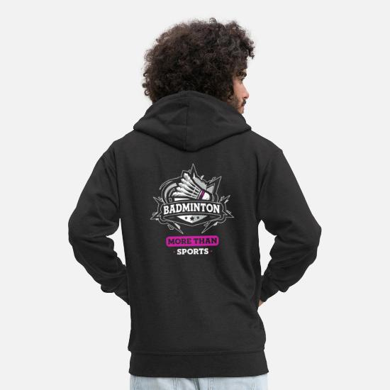 Birthday Hoodies & Sweatshirts - badminton - Men's Premium Zip Hoodie black