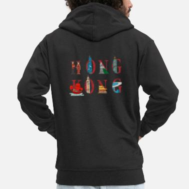 China Hong Kong - Men's Premium Zip Hoodie