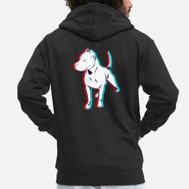 Anaglyph Rotti Anaglyph - Men's Premium Zip Hoodie