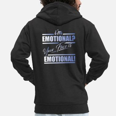 Emotion emotion - Men's Premium Zip Hoodie