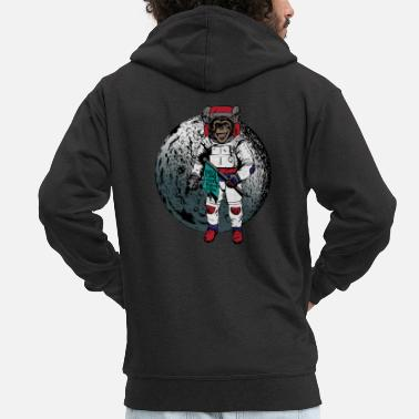 Space Monkey - Men's Premium Zip Hoodie
