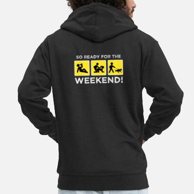 Alk Ready for Weekend Drinking Sex Gas Alcohol Alk - Men's Premium Zip Hoodie