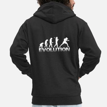 Darwin Idea regalo boxe Evolution - Felpa con zip premium uomo