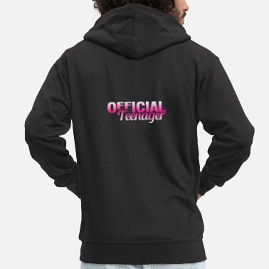 Puberty Officially teenage 13th birthday - Men's Premium Zip Hoodie